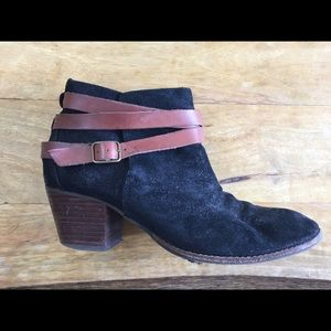 Dolce Vita leather wrap ankle booties